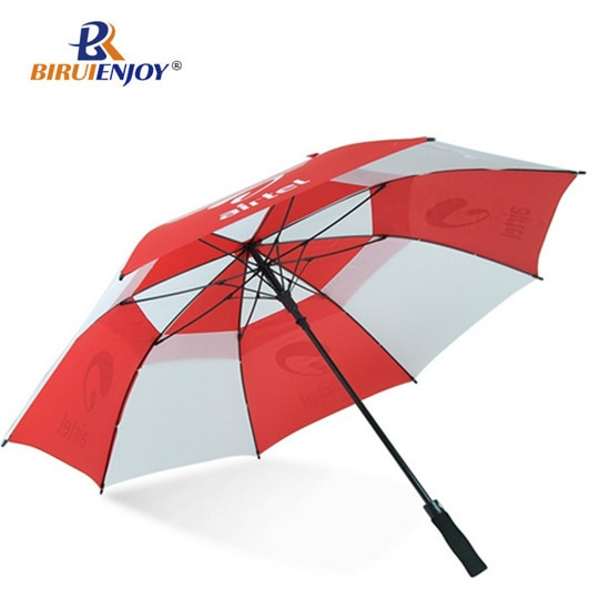 30 inch windproof golf umbrella red white automatic