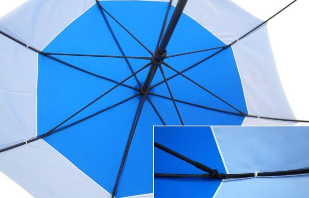 promotional blue umbrella with raindrop cover