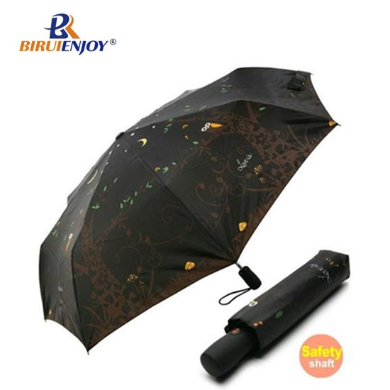 Compact umbrella black uv outside design inside