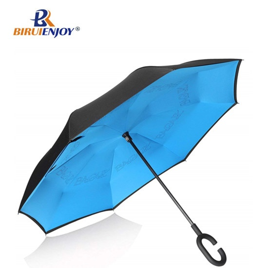 strong Inverted Umbrella for cars waterproof inside out