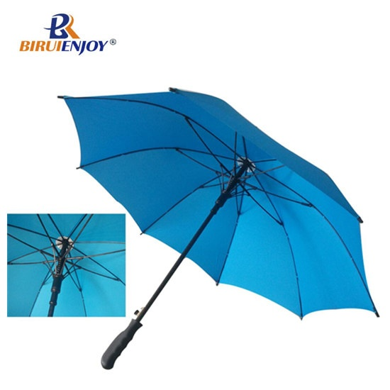 Cyan golf umbrella windproof fiber frame auto 130