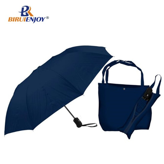 23 inch promotional umbrella cyan fabric with silver inside automatic