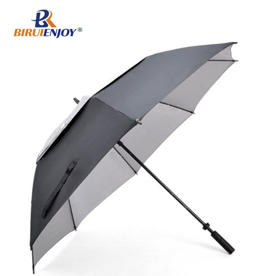 30 inch advertising golf umbrella windproof yellow for sport
