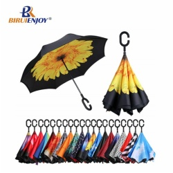 Hot inverted umbrella upside down parasol rain/sun