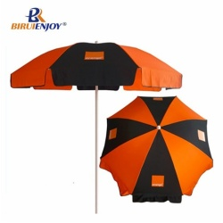 180 cm sun umbrella orange black polyester with logo