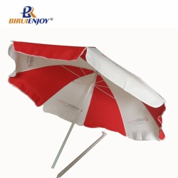 180cm beach umbrella red and white for promotion