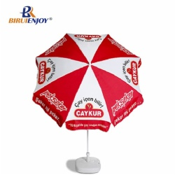 2m outdoor parasol beach blue with aluminum frame