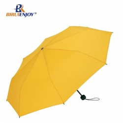 Compact umbrella 3 fold for gifts yellow