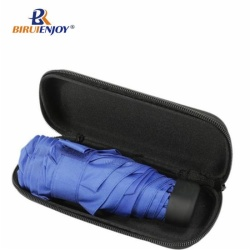 5 folding umbrella cyan fabric EVA case