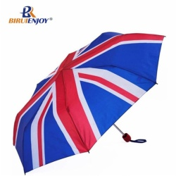 3 section umbrella UK flag all over canopy