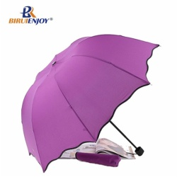 Color changing folding umbrella pink