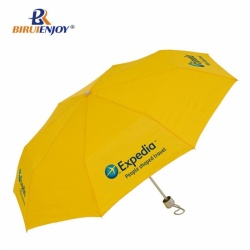 Best mini umbrella yellow pongee three section
