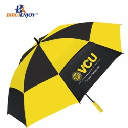30 inch Vented golf umbrella full fiber pongee auto open