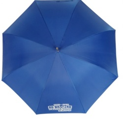White sports umbrella with company logo printed auto open