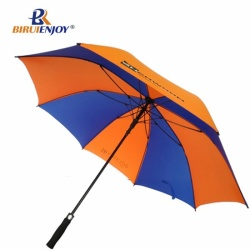 High quality golf umbrella automatic blue orange 30